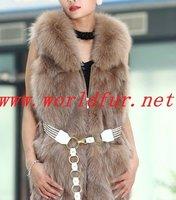 BY-HN-G033 Fashion Waistcoat for Women,  fox fur coat, fox fur vest