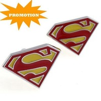 Promotion: Stainless Steel Cuff Link 2pairs Wholesale Free Shipping / Superman