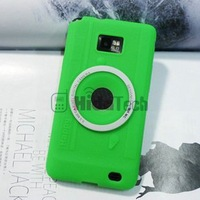 Camera Pattern Soft Silicone Case for galaxy s2,silicon case for i9100,for samsung mobile phone back cover,by dhl free shipping