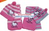 Christmas Gift free shipping 2013 girl fashion Girls love hello kitty fashion scarf +hat knitting 10/lot 2color(China (Mainland))