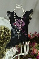 06# Lace BlackT-shirt/Outfit 1/3 SD DZ DOD BJD Dollfie