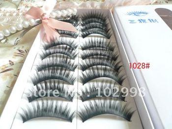 Free shipping wholesale price 100 boxes 1000 Paris Mixed Style Black fake eyelashes, false eyelashes