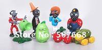 8 pcs Plants vs Zombies PVZ Collection Figures and Retail 50set/lot