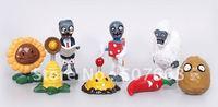 Plants vs Zombies PVZ Collection PVC Figures and retail ( 8 pcs/set ) 100set/lot