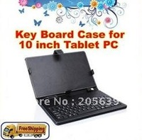 Keyboad leather Case for 10 inch Tablet PC