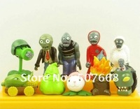 Free Shipping 10 pcs Plants vs Zombies PVZ Collection Figures and Retail 300set/lot