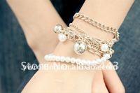 12pcs/lot free-shipping  fashion olivet charm  bracelet