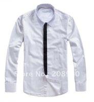 Men Cotton Long Sleeve Fashion Social Shirt