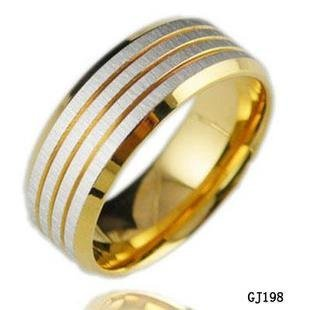 2010 High Fashion Titanium Steel Ring Wholesale Jewelry New Style Beautiful Veiw GJ198