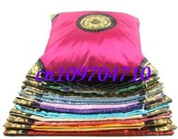 Free shipping! 6pcs high quanlity sun flower pillowcase/ embroidery silk cushion cover/ satin pillow cover bag
