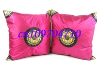 Free shipping! 60pcs high quanlity sun flower pillowcase/ embroidery silk cushion cover/ satin pillow cover bag