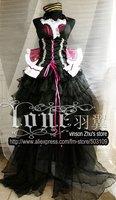 Anime MACROSS Sheryl Cosplay Costume Purple Lolita Dress Free Shipping