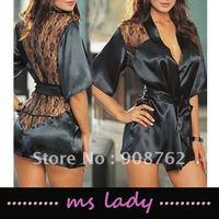 sexy adult sleepwear woman sleepwear black free shipping HK airmail