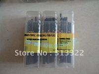 Free Shipping: 2 mm HSS 4241# Straight Shank Twist Drill Bits Jobber Drill Bit,Black Drill Full edge