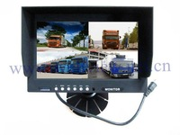 800*480 9inch tft lcd sun visor monitor for truck,4ch split function,DC24V