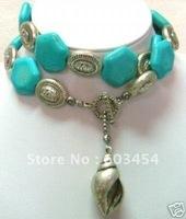 Wholesale Tibet Jewelry turquoise long Necklace Pendant  / Free Shiping 1Pcs