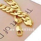Wholesale Cheap Heavy! men's 18k yellow gold GP necklace chain  / Free Shiping 1Pcs(China (Mainland))