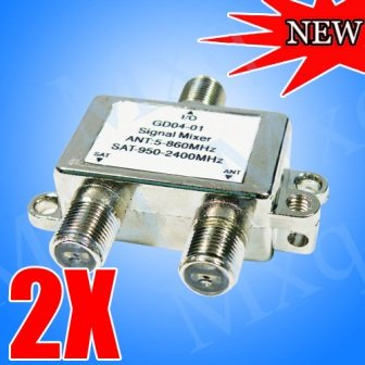 20pcs/lot Satellite Splitter ANT SAT Signal mixer Johansson digital satellite TV-SAT combiners diplexers VHF-UHF / Satellite