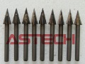 10 pcs 30 Degree Carbide Bits CNC Router Tools Stone Carving Tools High Precision Engrave on Bluestone Marble Metal Acrylic Wood