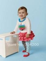8 sets/lot-Chirstmas XMAS Girl's Clothing Sets/Infant&Toddler Clothing sets/Santa Baby Clothing