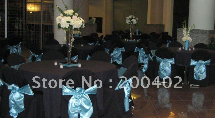 черный полиэстер banquet стул крышка для свадьбы andels