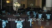 free shipping black polyester banquet chair cover for weddings and hotels