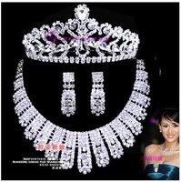 Sweet elegant stunning bridal jewelry bridal sets bridal suite bridal necklace crystal necklace chain