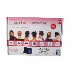 The total hair makeover kit,creat dozens of salon hair style at home,free shipping 2set/lot,whole sale price
