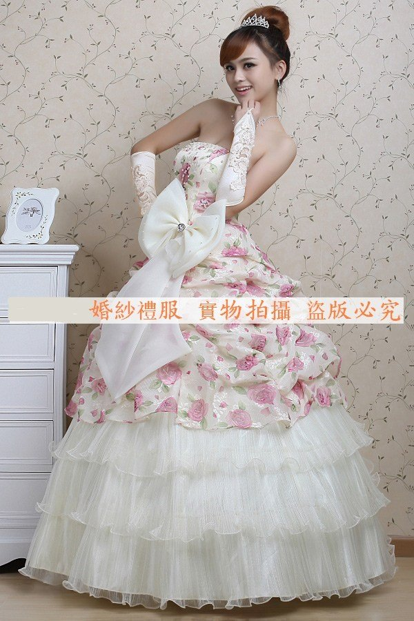 2011 new Fashion ladies's wedding dresses brand bridal dress princess bride  wedding dress gown free shipping web007