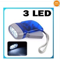 Free shipping by express+200pcs/lot clear hand pressing flashlight torch  dynamo Model 008A