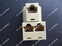 RJ45 CAT 5 6 LAN Ethernet Splitter Connector Adapter PC CAT5 CAT6 Adapter Modular Plug Network Connector
