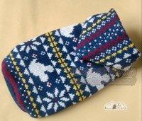wholesale Christmas snowflake  blue Hooded dog  Sweaters & Sweatshirts    free shipping