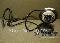 1.3 Mega USB 6 LED Webcam PC Camera w/Mic 5 piece/lot
