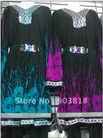 2 pieces/one set printed arabic clothing with pants,muslim abaya,islamic abaya 11061512