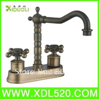 Xiduoli Free shipping Deck Mounted Dual handle Classic Ceramic Valve Bathroom Basin Tap XDL-8451 toilet sink