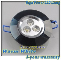 Warm White LED 9W High Power Ceiling lamp Spot light wall lamp Residential lighting blak case