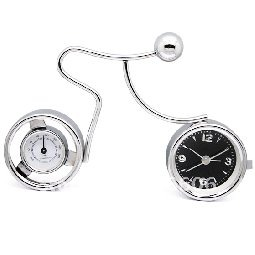 new hot selling novel art clock fashion desk clock with thermometer
