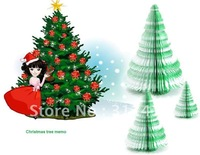 30pcs/lot Christmas tree memo Notepad paper note pad memo sticky note