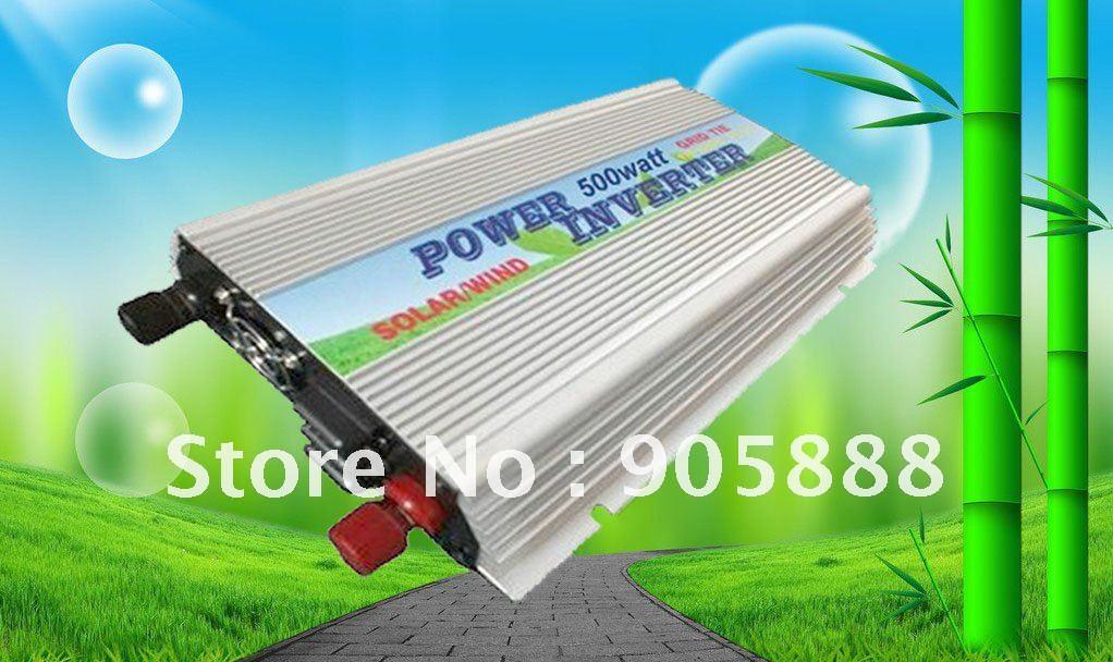 Free shipping!!Grid tie Pv inverter 500w grid tie wind turbine,dc10.5~28v INPUT (CP-GTI-500w)(China (Mainland))
