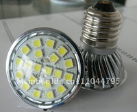 Wholesale Freeshipping LED Spotlight 20SMD 5050 LED Lamp E27 Base Warm Cool White LED Bulbs High Brightness 20PCS/Lot Hot Sale
