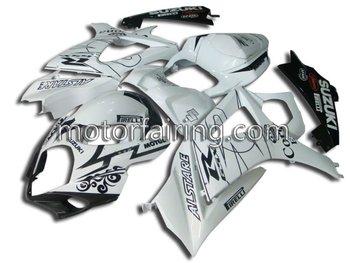 fairing kit/body work for suzuki gsxr1000 2008 2007 aftermarket accessories white/black