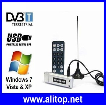 USB DVB-T 2.0 Digital TV Stick Digital HDTV TV Tuner  Digital TV Receiver For PC Laptop