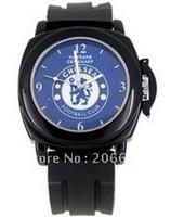 Premier League Club Watch , Fashionable Chelsea Wrist Watch (Black),Chelsea Football Club Watch,free shipping