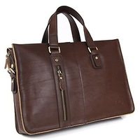 Free Shipping  Mens Genuine leather Messenger Bag Briefcase Handbag,man bag  dark coffe /light coffe