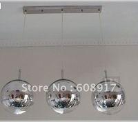 Free Shipping 25CM Silver Color Tom Dixon Mirror Ball Pendant Lamp*3pieces