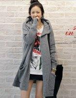 Womens Plus Size Gray Sweater Cardigan Long Sleeve Knitwear Coat Free Shipping f6540