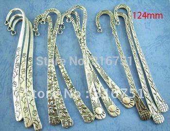 2014 Marcador De Livro Wedding Souvenir free Shipping 12pcs Mixed Silver Tone Bookmarks/fashion Accessory Jewelry Diy(w00637) AA
