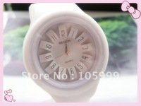 Latest Flower Petal Jelly Watch Candy Colourful Wrist Watch Children Ladies Girl Lovely Watches 60pcs