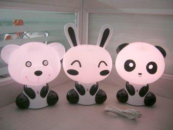 wholesale free shipping,5 pcs/lot USB Kung Fu Kid energy-saving lamp,Touch  energy-saving lamp ,