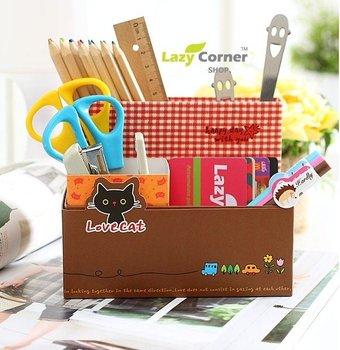 Kitty Panda Design Cute Lovely DIY Stationery Holder storage box Table Organizer Collecting box 50pcs/lot wholesale Best seller